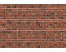 Фасадный клинкерный кирпич Flensburg rot-Kohlebrand glatt (240х71x115)