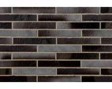 Клинкерная плитка для фасада Atlantis Kohlebrand Schieferstruktur LF (365x52х10)