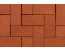 Клинкерная тротуарная брусчатка Rot-nuanciert 0900 (200x100x45)