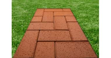 Клинкерная тротуарная брусчатка Rot-nuanciert 0905 (200x100x52)